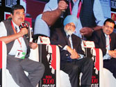 Jaipal Reddy, Nitin Gadkari, Montek Singh Ahluwalia and Sanjiv Goenka