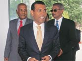Ousted Maldivian prez roots for democracy