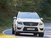 Mercedes ML350: Quite a looker