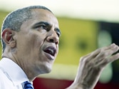Obama plunges into campaign, tears into Romney