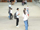 Students at Christ University, Bangalore.