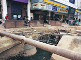 Mosquitoes breeding in posh Connaught Place's water filled craters