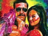 Akshay screens Rowdy Rathore exclusively for son