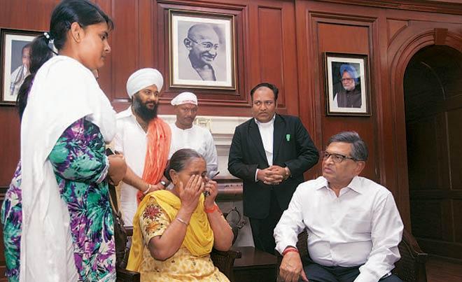 S.M. Krishna with Dalbir Kaur