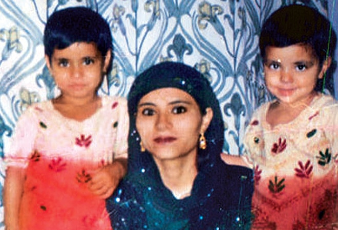 Gul Naaz with her children