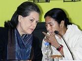Sonia Gandhi with Mamata Banerjee