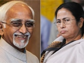 Hamid Ansari (left) and Mamata Banerjee