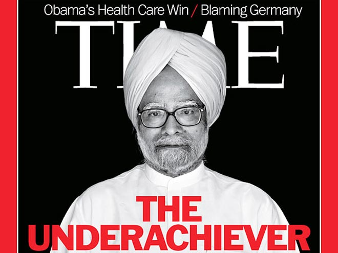 Manmohan Singh on Time's cover