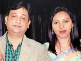 Nitin Sharma (right) and his wife