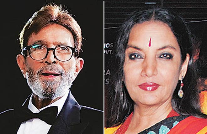 Rajesh Khanna and Shabana Azmi