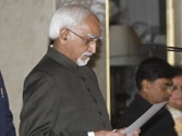 Ansari sworn in as vice-president for second consecutive term