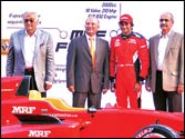 Narain Karthikeyan enthralls fans with his latest Formula car in Chennai