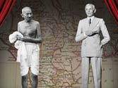 Imaginary conversation between Mahatama Gandhi and Jinnah.