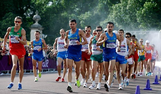 Olympic men's 20 km race walk.