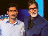 Manoj Kumar Raina with Amitabh Bachchan