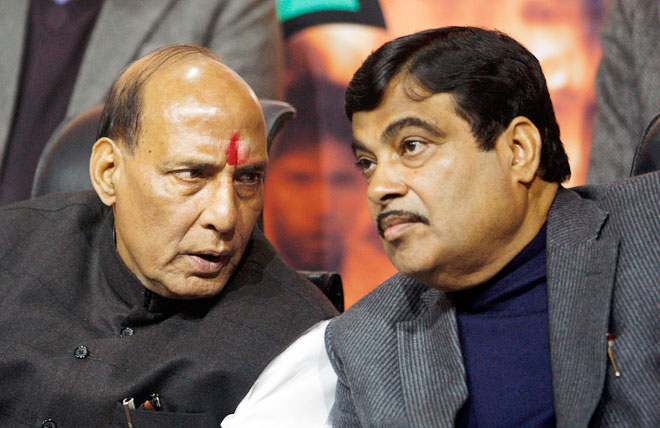Image result for nitin gadkari and rajnath singh
