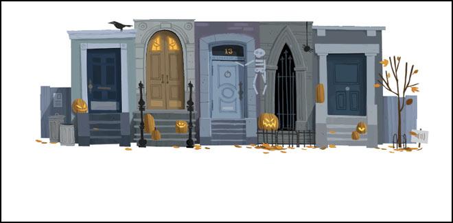 Happy Halloween with Google