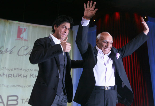 Shah Rukh Khan with Yash Chopra