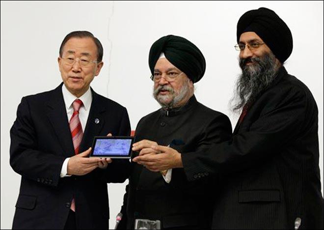 Ban Ki-moon with Suneet Singh Tuli