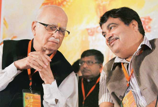 LK Advani with Nitin Gadkari