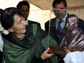 Gandhi, Nehru are two Indian leaders I feel closest to, says Aung San Suu Kyi