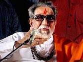 Supporters of Bal Thackeray