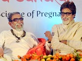 Bal Thackeray with Amitabh Bachchan