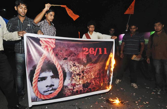 Celebrations in Guwahati on Kasab's execution