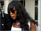 Naomi Campbell fined on cars for using tinted glass