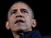 President Obama cries during speech as campaign ends