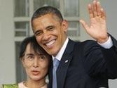 Barack Obama meets Aung San Suu Kyi on landmark Myanmar visit