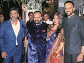 It's SOS vs JTHJ: Ajay-SRK come face to face at Rohit Shetty sister's wedding reception