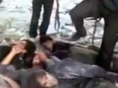 Naked brutality: Gruesome video shows Syria rebels kicking captured soldiers