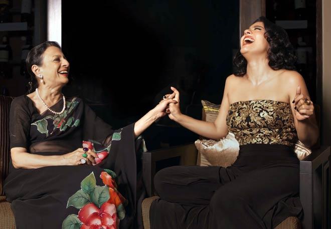 (Left) Tanuja and Kajol
