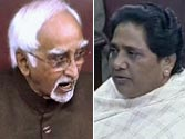 Hamid Ansari and Mayawati