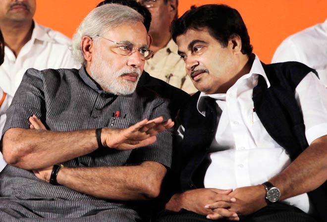 Narendra Modi and Nitin Gadkari