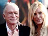 Runaway bride returns to Playboy Mansion: Hefner set to tie the knot with Crystal, again!