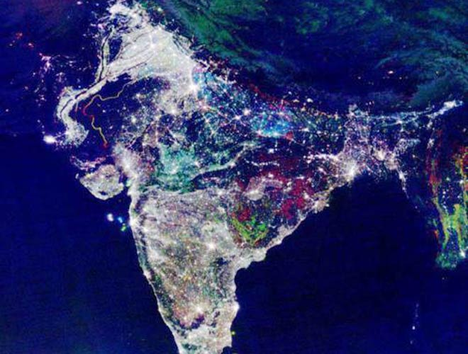 Goddess lakshmi could not have missed this nasa releases map of india on diwali night gumiabroncs Choice Image