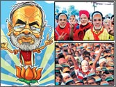 How does Narendra Modi charm the masses and keep the votes coming in?