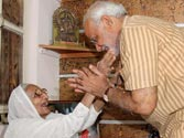 Hira Ba and Narendra Modi