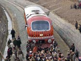 Kashmir Valley: Protests halt trial run of India's longest railway tunnel