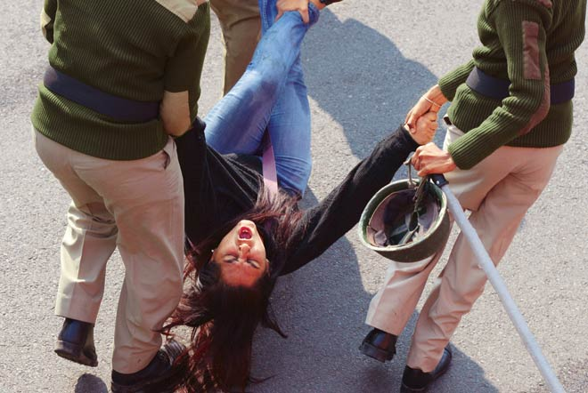 Anti-gangrape protesters in Delhi