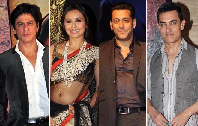Shah Rukh Khan, Rani Mukerji, Salman Khan and Aamir Khan