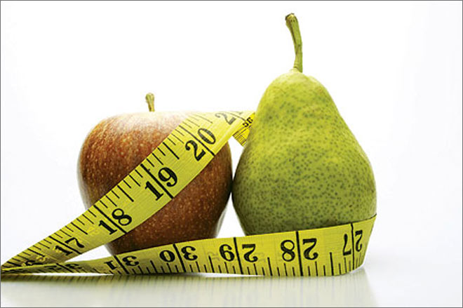 Pear-shaped bodies healthier than apple-shaped not true