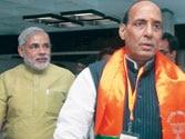 Narendra Modi congratulates Rajnath Singh, says BJP will gain from him