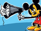 Gagging Mickey Mouse
