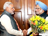 Road to Delhi? Narendra Modi meets PM Manmohan Singh with Gujarat's development on his mind