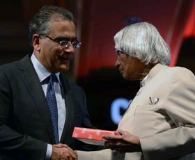 APJ Abdul Kalam with Aroon Purie