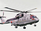 An AgustaWestland AW 101 helicopter