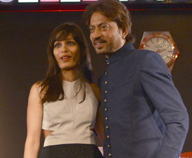 Freida Pinto (left) and Irrfan Khan